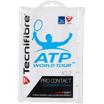 Tecnifibre ATP Pro Contact Overgrip - 12 Pack - White