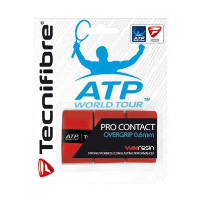Tecnifibre ATP Pro Contact Overgrip -3 Pack - Red