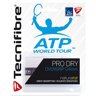 Tecnifibre ATP Pro Dry Overgrip -3 Pack - White