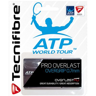 Tecnifibre ATP Pro Overlast Overgrip - 3 Pack - Black