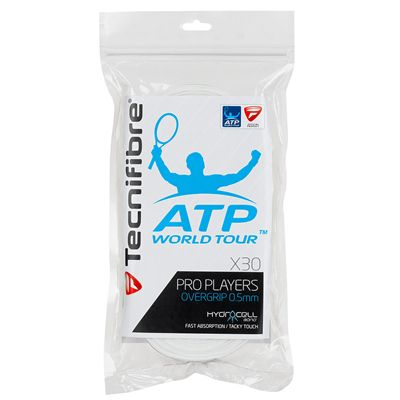 Tecnifibre ATP Pro Players Overgrip - 30 Pack - White
