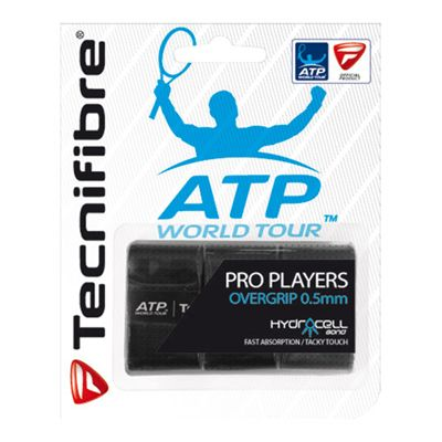 Tecnifibre ATP Pro Players Overgrip - 3 Pack - Black