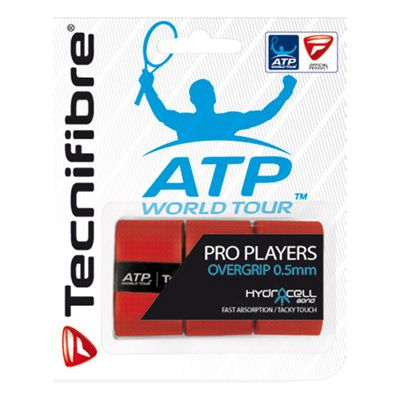 Tecnifibre ATP Pro Players Overgrip - 3 Pack - Red