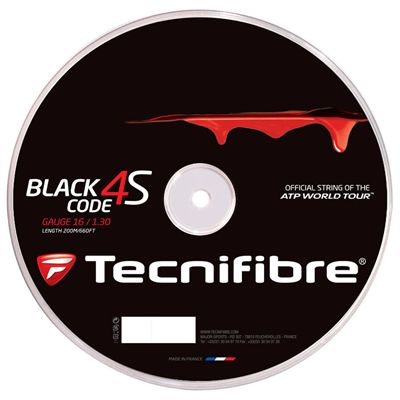 Tecnifibre Black Code 4S Tennis String Reel - 200m 1.30