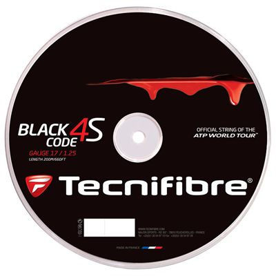 Tecnifibre Black Code 4S Tennis String Reel - 200m 1.25mm