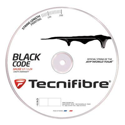 Tecnifibre Black Code String Reel-200m-Black-1.24 mm