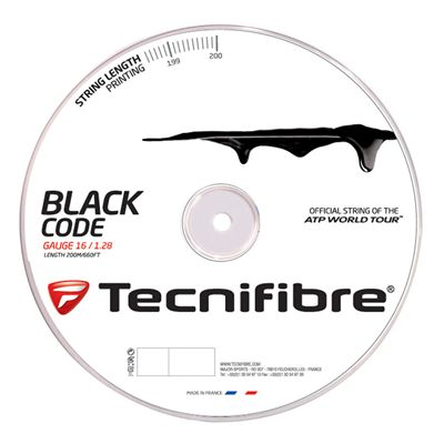 Tecnifibre Black Code String Reel-200m-Black-1.28 mm