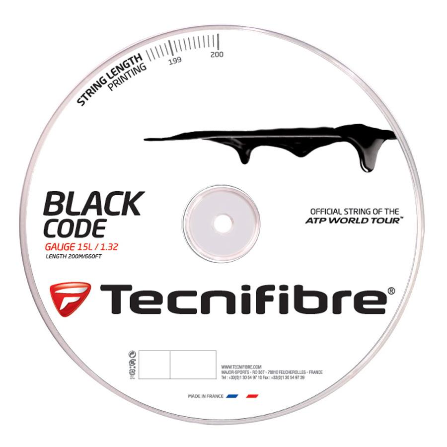 Tecnifibre Black Code String - 200m Reel - 1.32mm