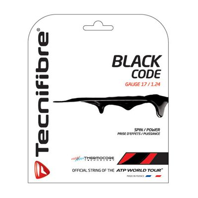 Tecnifibre Black Code String Set-12m-Black-1.24 mm