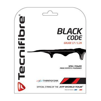 Tecnifibre Black Code String Set-12m-Black-1.24 mm