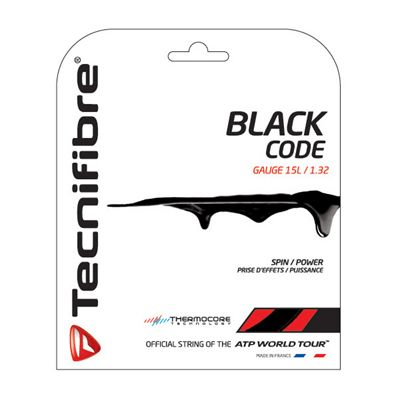 Tecnifibre Black Code String Set-12m-Black-1.32 mm