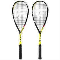 Tecnifibre Carboflex 125 Cannonball Squash Racket Double Pack