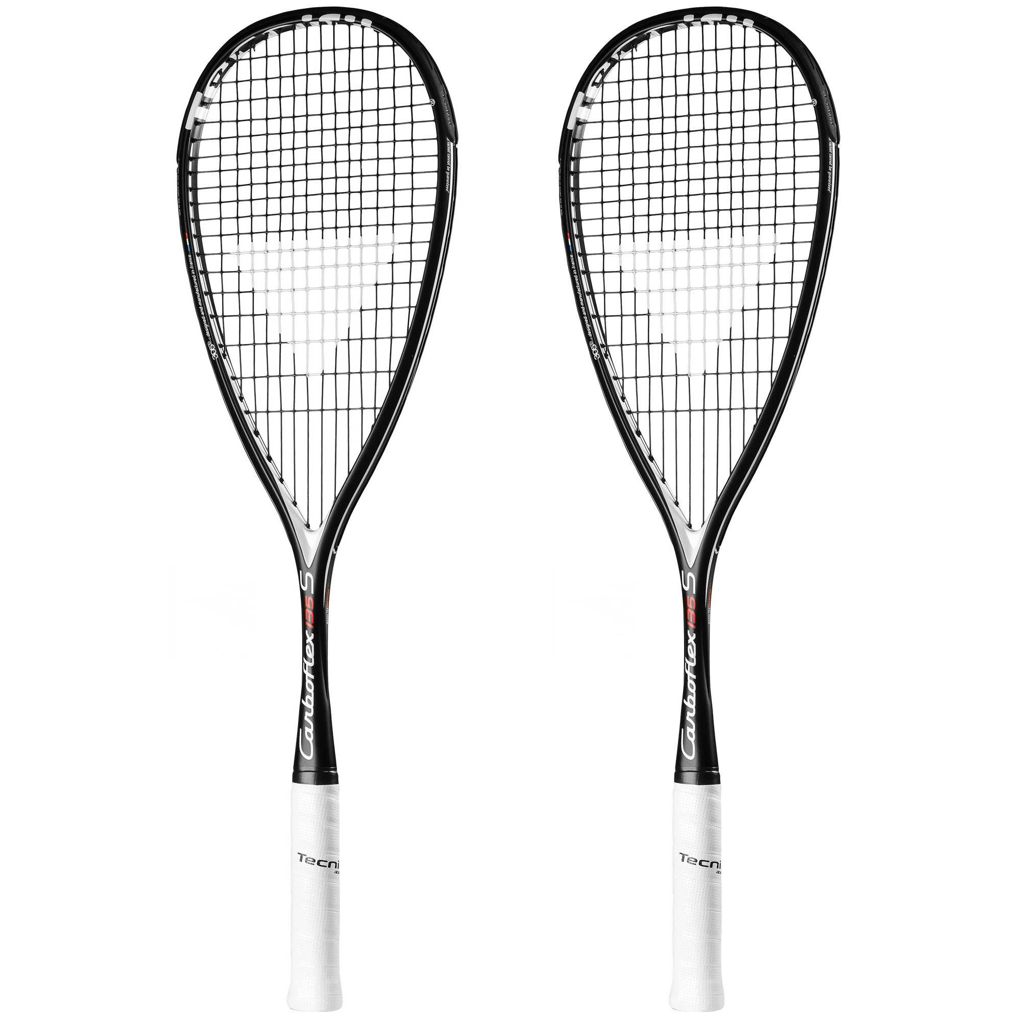 Tecnifibre Carboflex 135 S Basaltex Multiaxial Squash Racket Double Pack