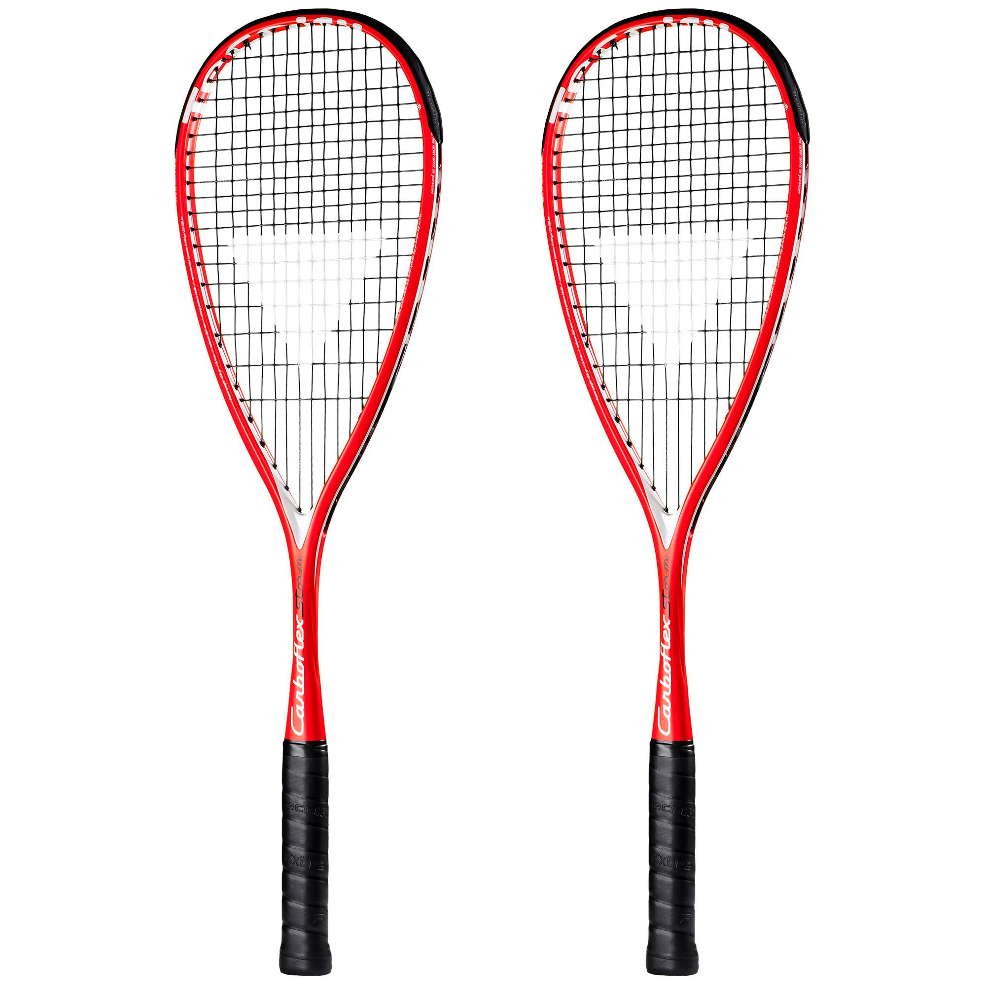 Tecnifibre Carboflex Storm Squash Racket Double Pack