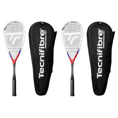 Tecnifibre Carboflex X-Speed 130 Squash Racket Double Pack - Cover