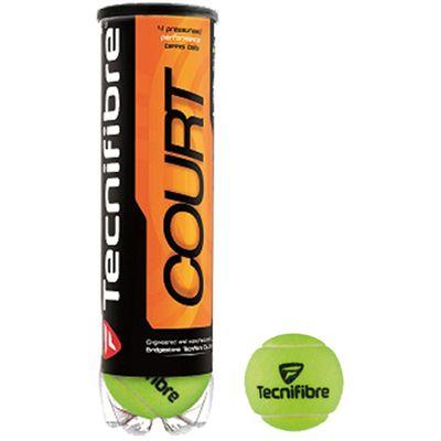 Tecnifibre Court Tennis Balls - Tube of 4 AW16