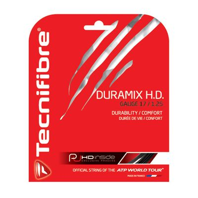 Tecnifibre Duramix HD String Set-12m-Black-1.25mm