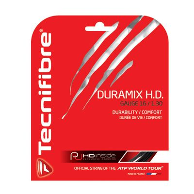 Tecnifibre Duramix HD String Set-12m-Black-1.30mm
