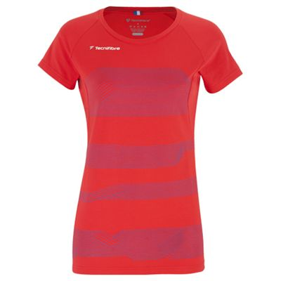 Tecnifibre F1 Stretch Ladies T-Shirt-Red