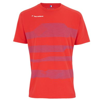 Tecnifibre F1 Mens Stretch T-Shirt - Red