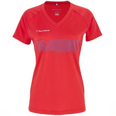 Tecnifibre F2 Girls Airmesh T-Shirt - Red