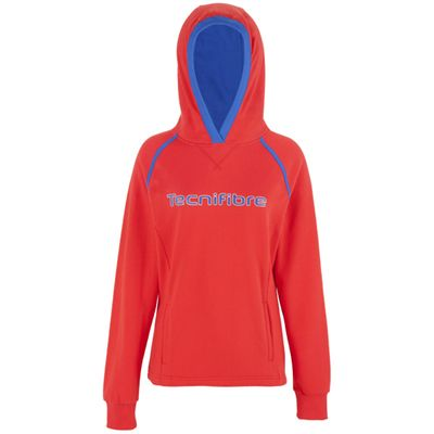 Tecnifibre Fleece Ladies Hoody-Red