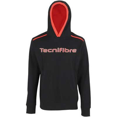 Tecnifibre Mens Fleece Hoody-Black