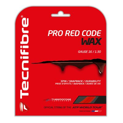 Tecnifibre Pro RedCore Wax String Set-12m-Red-1.30 mm