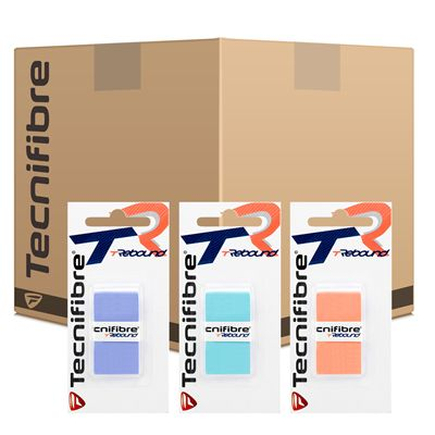 Tecnifibre Rebound Overgrip Assorted Colours - Box of 12