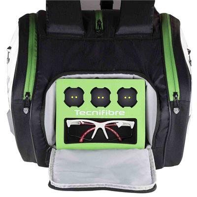 Tecnifibre Squash Green 12 Racket Bag - Side