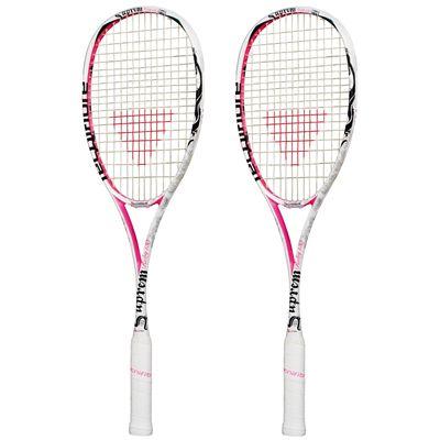 Tecnifibre Suprem Ruby Squash Racket Double Pack