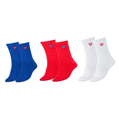 Tecnifibre Tour Mens Socks-Pack of 3-Blue-Red-White
