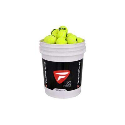 Tecnifibre XLD Tennis Balls - 72 Balls Bucket-Balls