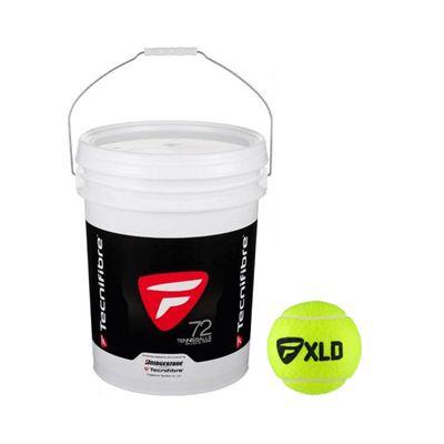Tecnifibre XLD Tennis Balls - 72 Balls Bucket