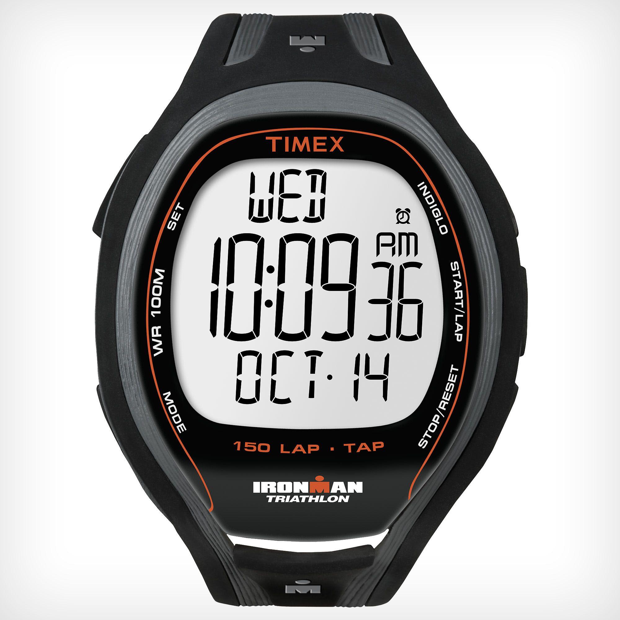 Timex T5K253 Mens Ironman TAP Sleek 150 Lap Watch