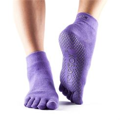ToeSox Full Toe Ankle Grip Socks