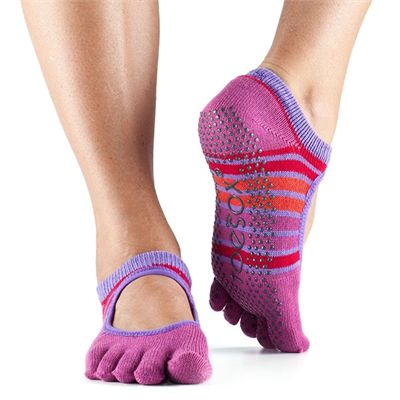 ToeSox Full Toe Bella Grip Socks - Pink