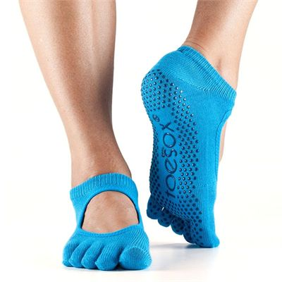 ToeSox Full Toe Bella Grip Socks - Blue