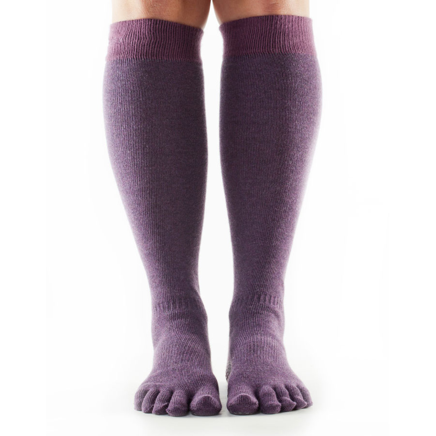 ToeSox Full Toe Casual Knee High Socks  Purple M