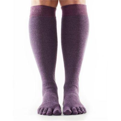 ToeSox Full Toe Casual Knee High Dusk Socks-Purple