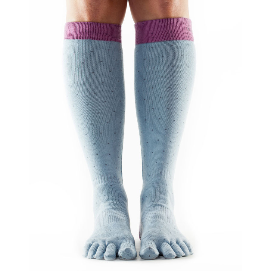 ToeSox Full Toe Casual Knee High Socks  Grey M