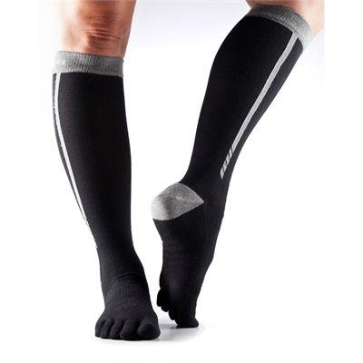 ToeSox ToeSox Full Toe Zoe  Sports Socks-Black