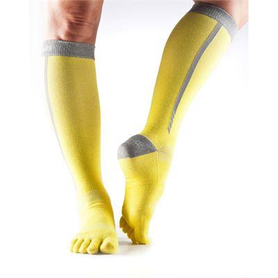 ToeSox ToeSox Full Toe Zoe  Sports Socks-Yellow