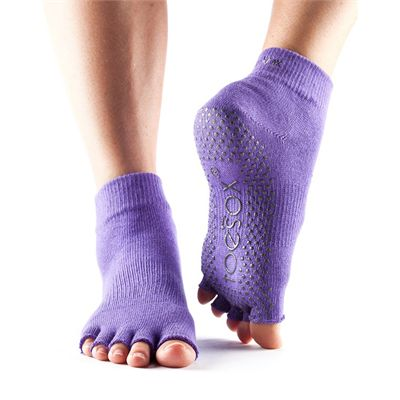 ToeSox Half Toe Ankle Grip Socks-Purple