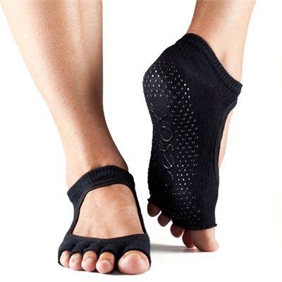 ToeSox Half Toe Bella Grip Socks - Black