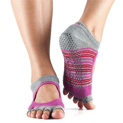 ToeSox Half Toe Bella Grip Socks - Grey