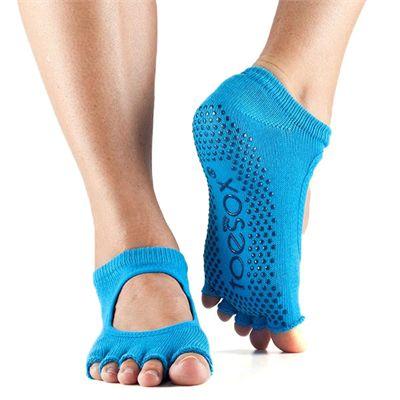 ToeSox Half Toe Bella Grip Socks - Blue