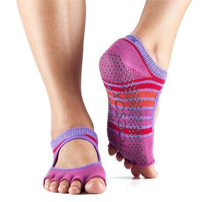 ToeSox Half Toe Bella Grip Socks - Pink