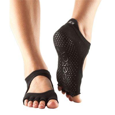 ToeSox Half Toe Bellarina Grip Socks-Black