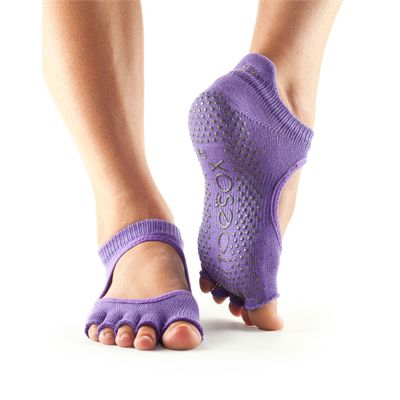 ToeSox Half Toe Bellarina Grip Socks-Purple